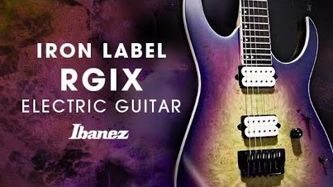 Ibanez Iron Label RGIX Electric Guitar featuring Baku Maruyama (a crowd of rebellion)