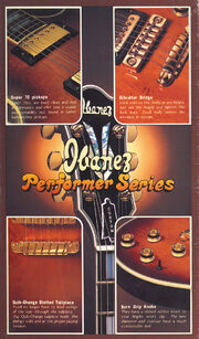1978 Ibanez electric guitar catalog front-cover