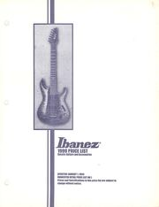 1999 USA price list front-cover