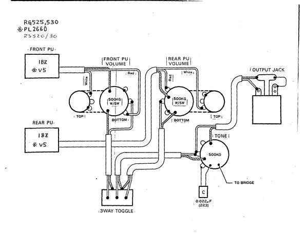 1986 RG530 / 525 wiring diagram. | Ibanez Wiki | FANDOM ... on ibanez grg120bdx, ibanez jbm100, ibanez explorer, ibanez rg450dx, ibanez s470 mahogany oil, ibanez sz320, ibanez gax, ibanez model identification, ibanez 7 string, ibanez rg421, ibanez s5570q, ibanez 9-string, ibanez roadcore, ibanez gsr200, ibanez color codes, ibanez axstar, ibanez hsh wiring, ibanez pickup wiring, ibanez v7 and v8 wiring, ibanez 8 string,