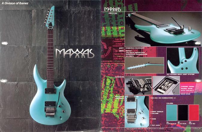 1987 Maxxas MX2 dealer sheet