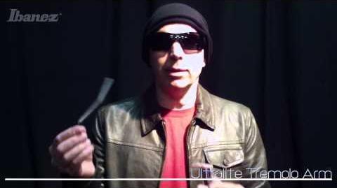 Joe Satriani introduces the Ibanez ULTRALITE tremolo arm