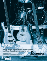 2005 Ibanez USA Winter pricelist front-cover