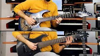8 STRING GUITAR vs. 6 STRING GUITAR IMPROV IBANEZ RICCARDO GIOGGI