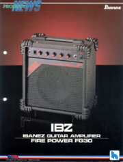 1987 FG30 guitar amp dealer sheet front-cover