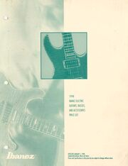 1998 USA price list front-cover