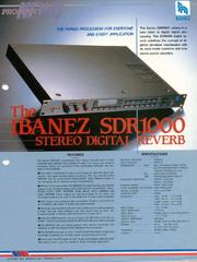 1986 SDR1000 dealer sheet