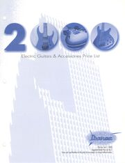 2000 July USA price list front-cover
