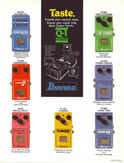 1980 Compact Effects dealer sheet