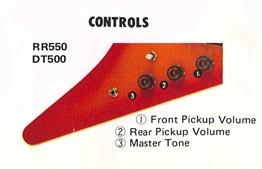 RR550-DT500 controls
