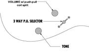 Controls VT3L push-pull-split vol