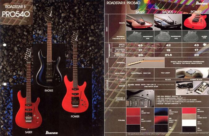 1987 Roadstar Pro540 dealer sheet