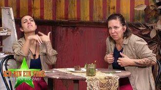 Dschungelcamp 2020 Dschungelprüfung Kaffee & Fluchen - Elena und Danni naschen Kakerlaken-Crumble