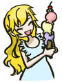 Mary Eating Ice Cream