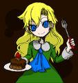 Mary Eating Chocolate Cake