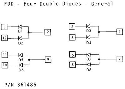 361485 Four Double Diodes - General (FDD)