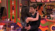 Carly and Freddie slow dance