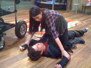 IThink They Kissed - Nathan being tackled by Miranda