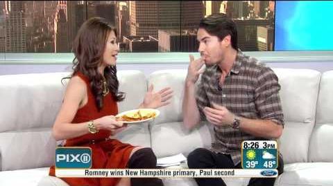 PIX Morning News - Frances Rivera sings & eats spaghetti tacos with Jerry Trainor (1-11-12)