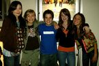 Lexi and friend with iCarly cast