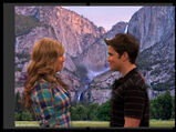 Sam and Freddie near the mountains