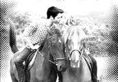 Seddie on Horses Kissing