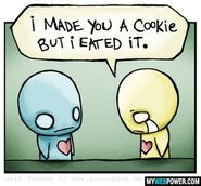 Funny cookie eated it