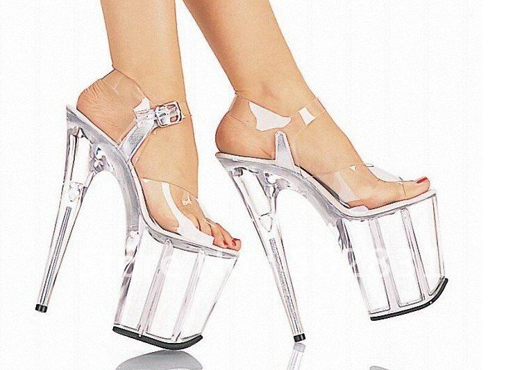 Crystal Sandals Thick Bottom Y High Heels Silver Performances Wedding Shoes Bride Stilettos S041 Jpg