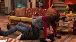 Carly pinning Freddie