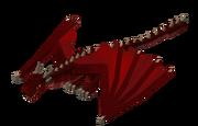 Fire dragon render
