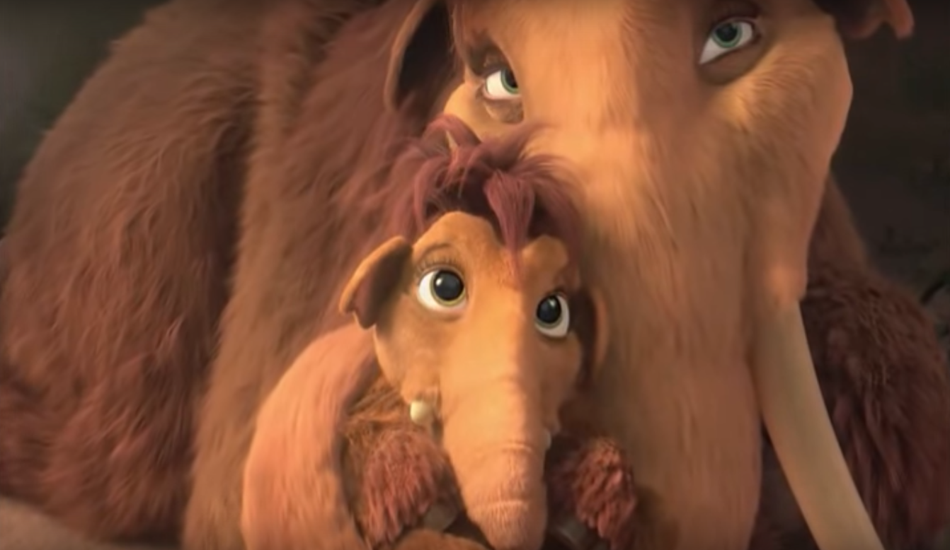 image - ellie holding peaches | ice age wiki | fandom powered