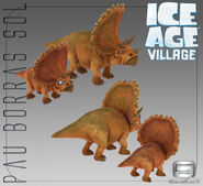 3D Models of Triceratops for Ice Age Village
