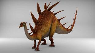 Kentrosaurus modeling for game