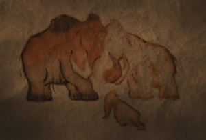 Cave drawing of Manny's family2
