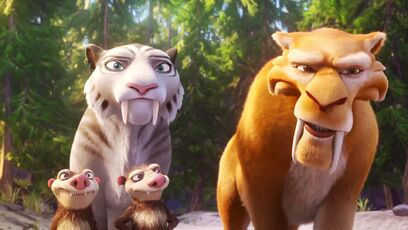 Ice Age Collision Course Shria and Diego are Saber-tooth Tiger's