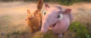 Baby start and baby aardvark