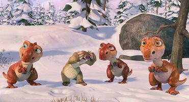 Sid plays Peekaboo with his children