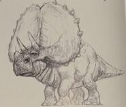 Triceratops concept art
