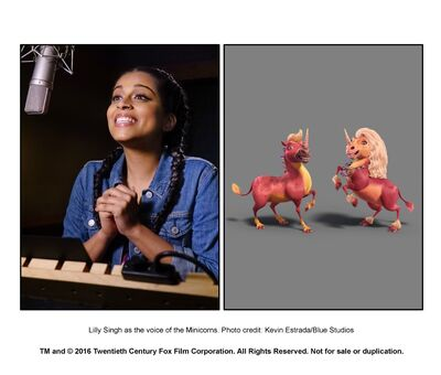 Lily Singh As Minicorns Misty And Bubbles