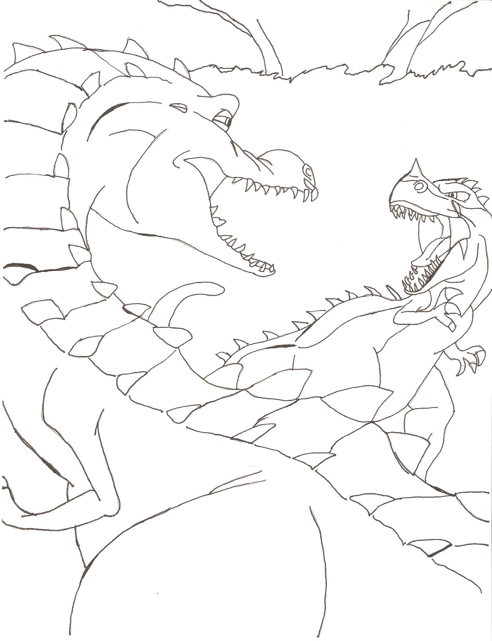 Fris Kleurplaten Ice Age 3 Dino