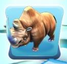 Naked wooly rhino