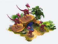 Dino pond hab