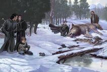 Mark Evans direwolf pups