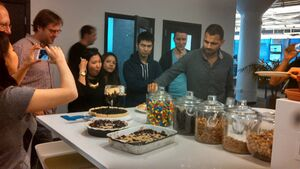 Wikia staff admiring
