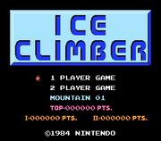 Ice Climber inicio