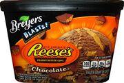 Nick breyers blasts chocolate reeses peanut butter cups frozen dairy dessert quart