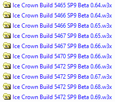 Builds for Ice Crown on Download Folder