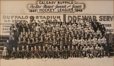 Calgary Buffalo Hockey Association teams 1947-48