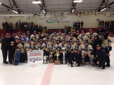 Bentley Generals 2016 Chinook Hockey League champs