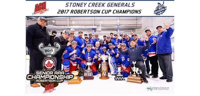 2017 ACH champs Stoney Creek Generals